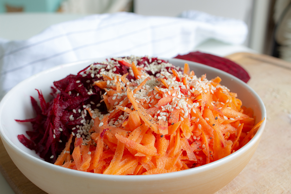 gluten and Lactose free beetroot carrot salad
