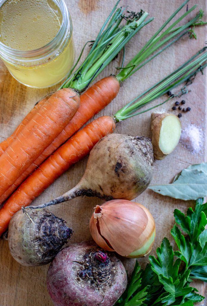 Ingredients for Stewed Root Vegetables