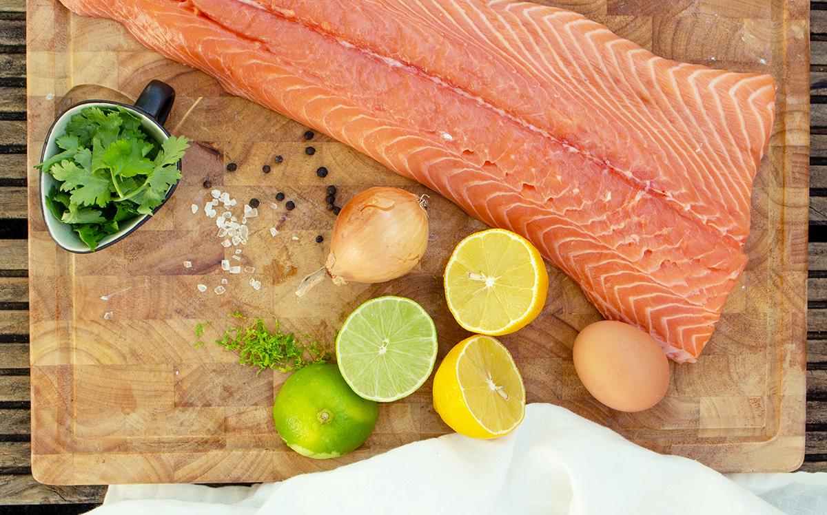Lachsfrikadellen Zutaten, Salmon Meatballs ingredients