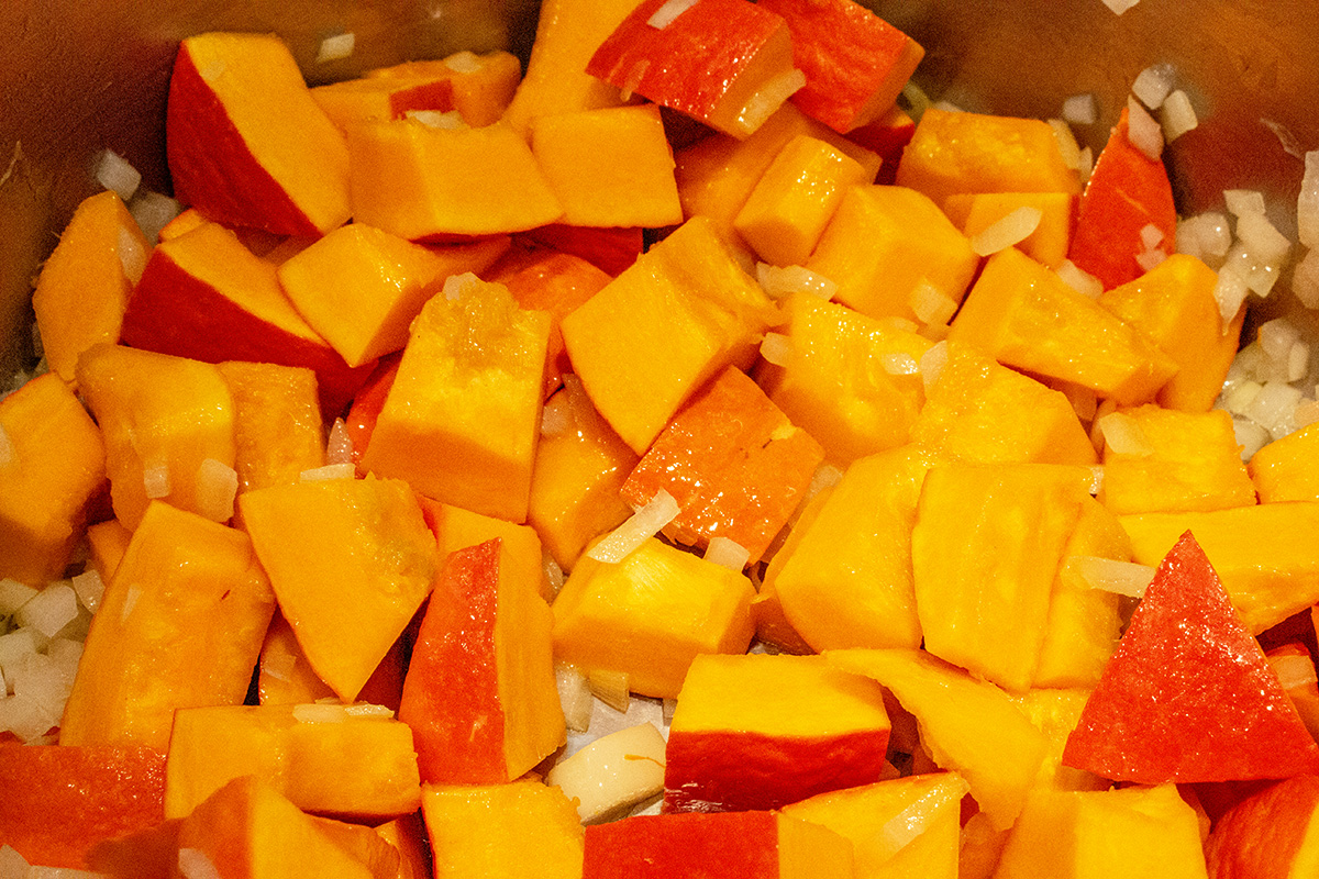 Sautée Pumpkin cubes