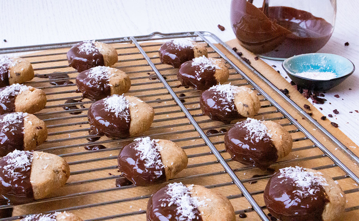 chocolate Cookies on a rack