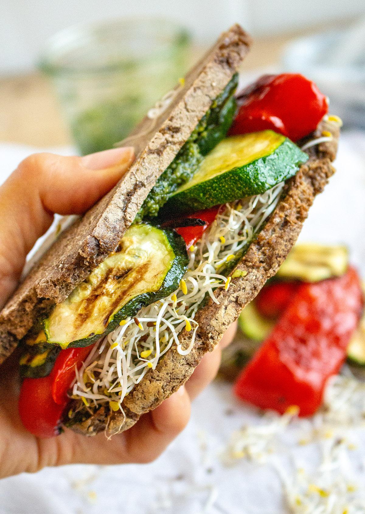 veganes glutenfreies Sandwich