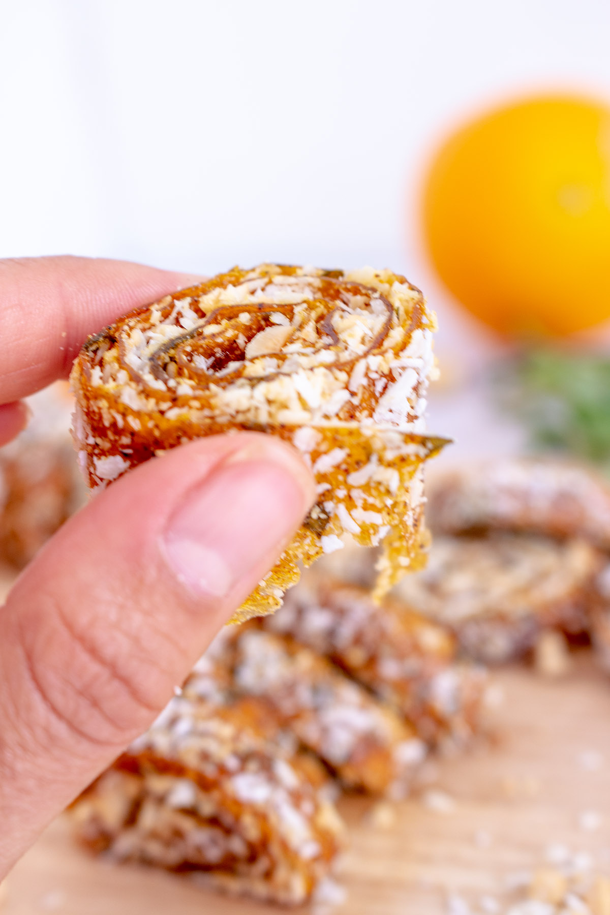 orangen Fruchtleder, fruit leather, diy fruit gum, orange tarragon fruit leather, winter sweets, vegan sweets