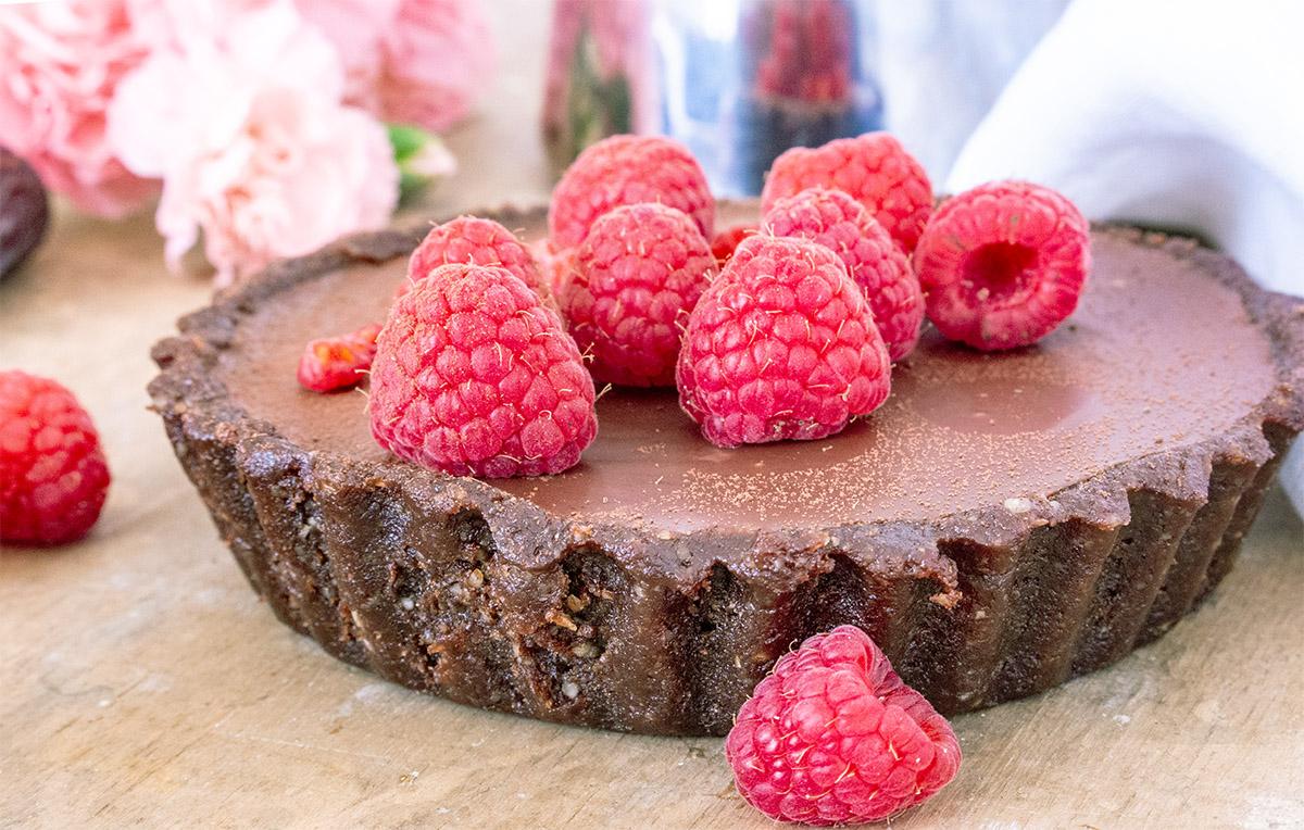 vegane Schokoladentarte, vegan chocolate tarte, vegan cake