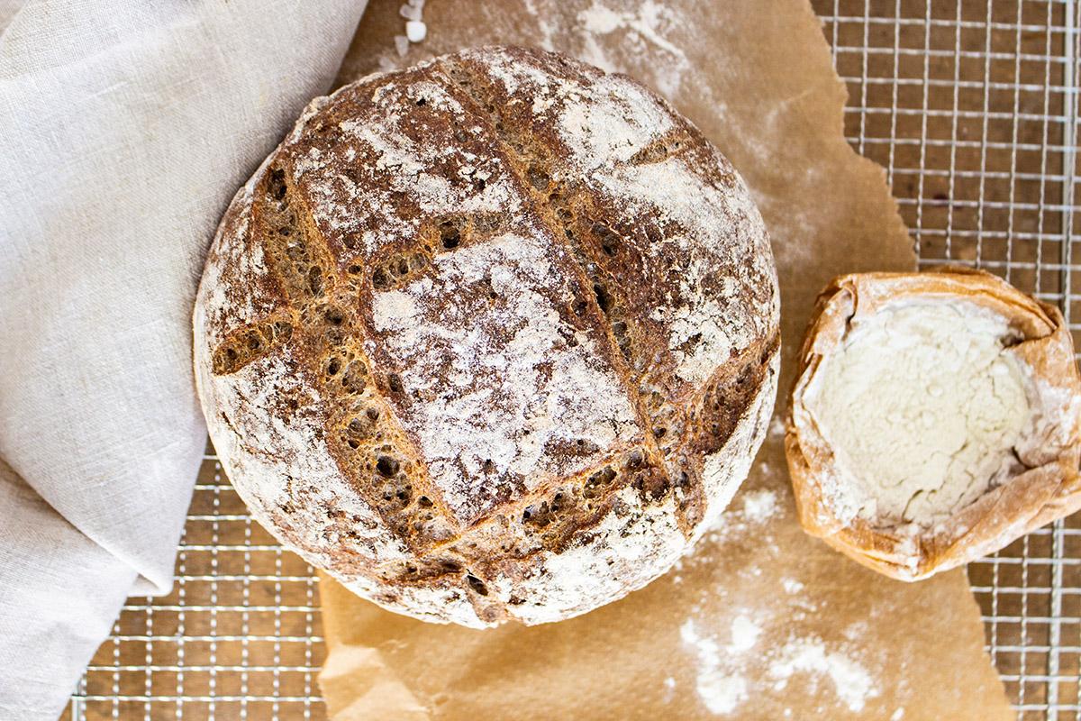 glutenfreies Brot, gluten free sourdough bread