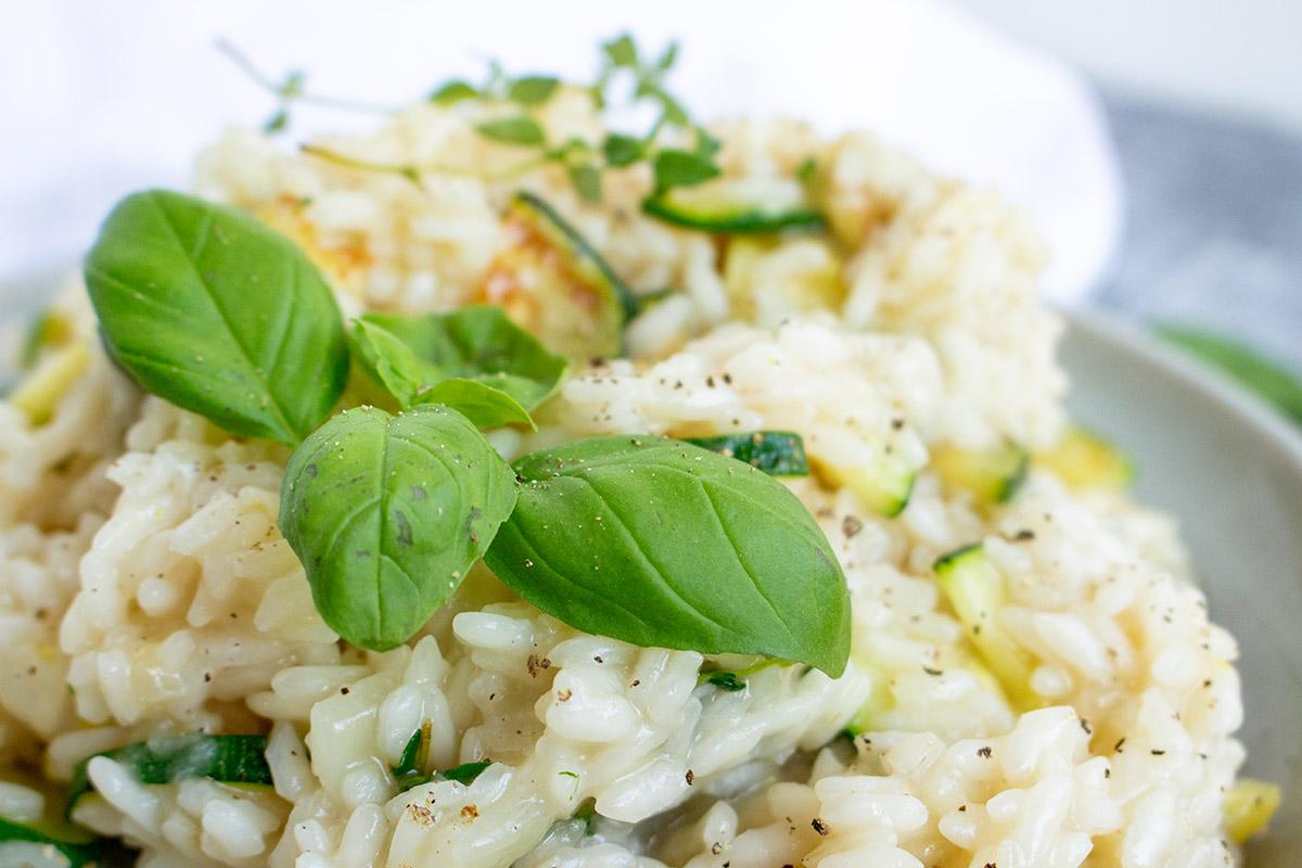 zucchini-zitronen-risotto, zucchini lemon risotto