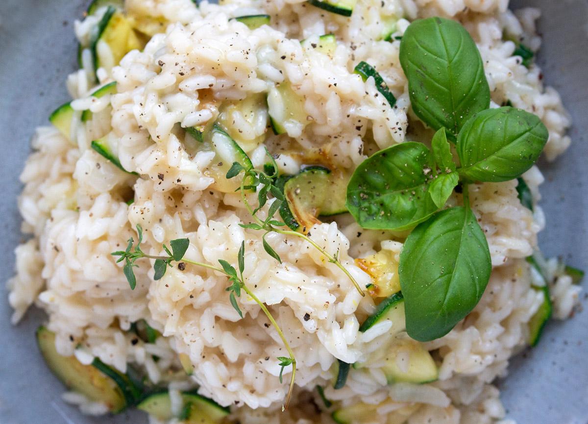 veganes Risotto, vegan Risotto, Zucchini-zitronen-Risotto, zucchini-rezepte
