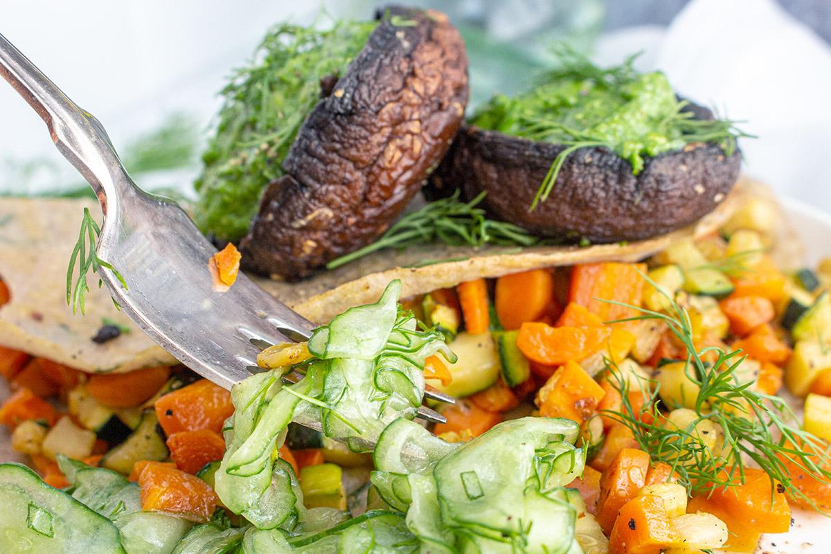 veganer Gurkensalat